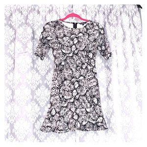 Express snakeskin print mini dress.